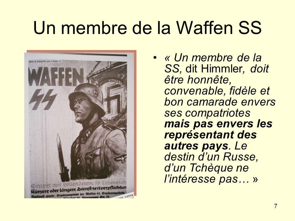 Un membre de la Waffen SS