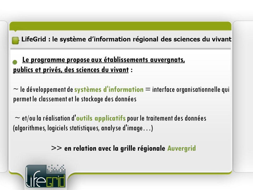 >> en relation avec la grille régionale Auvergrid