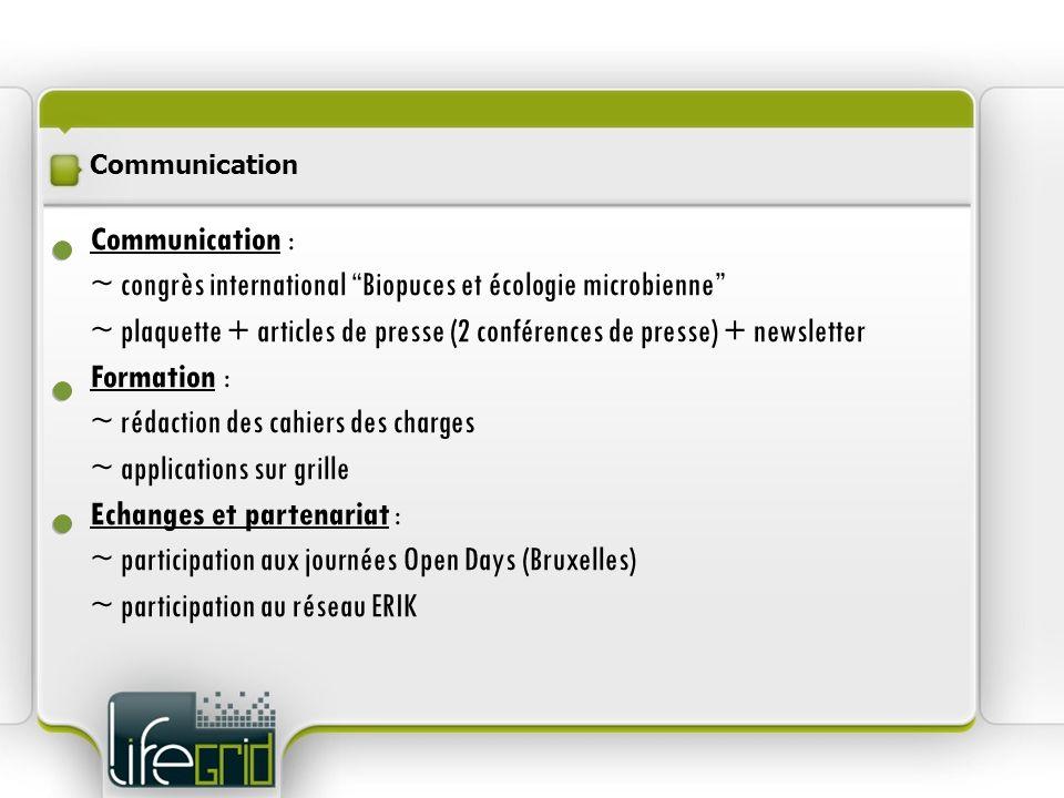 ~ congrès international Biopuces et écologie microbienne