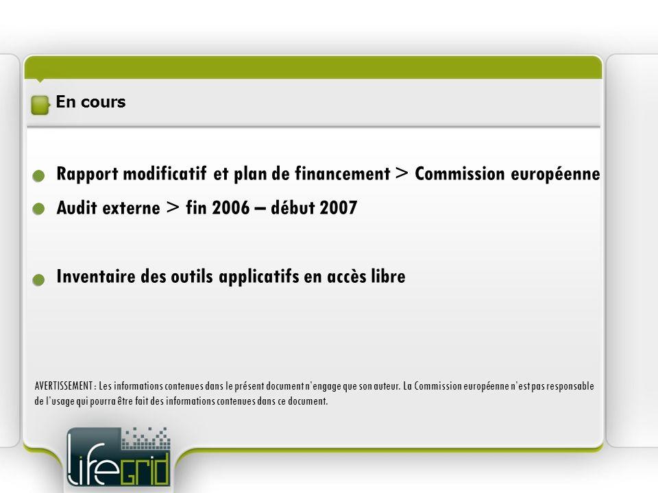 Rapport modificatif et plan de financement > Commission européenne