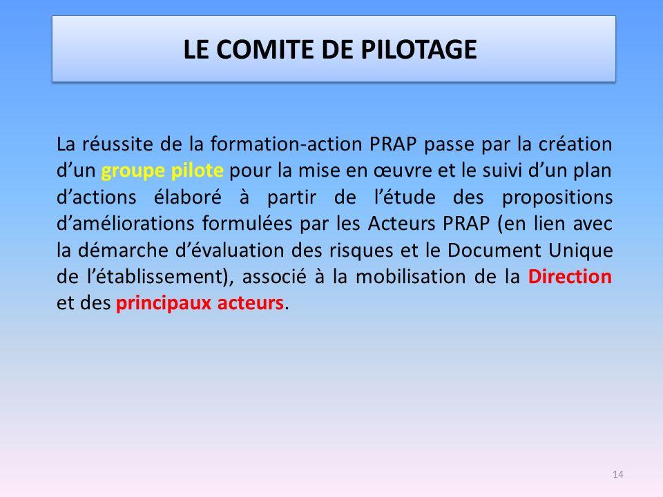 LE COMITE DE PILOTAGE