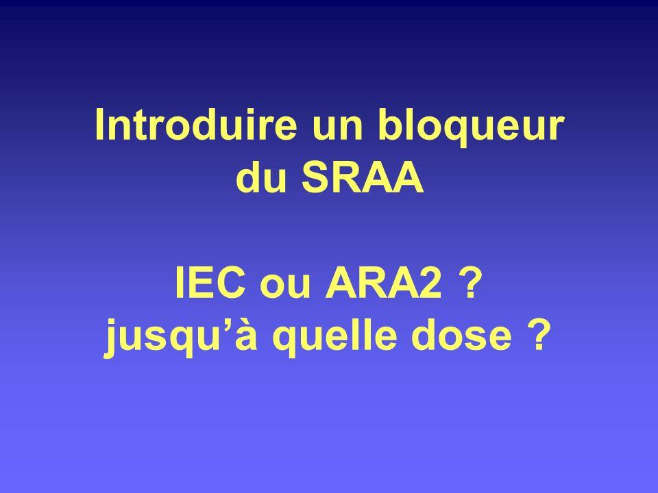 Introduire un bloqueur du SRAA IEC ou ARA2 jusqu'à quelle dose