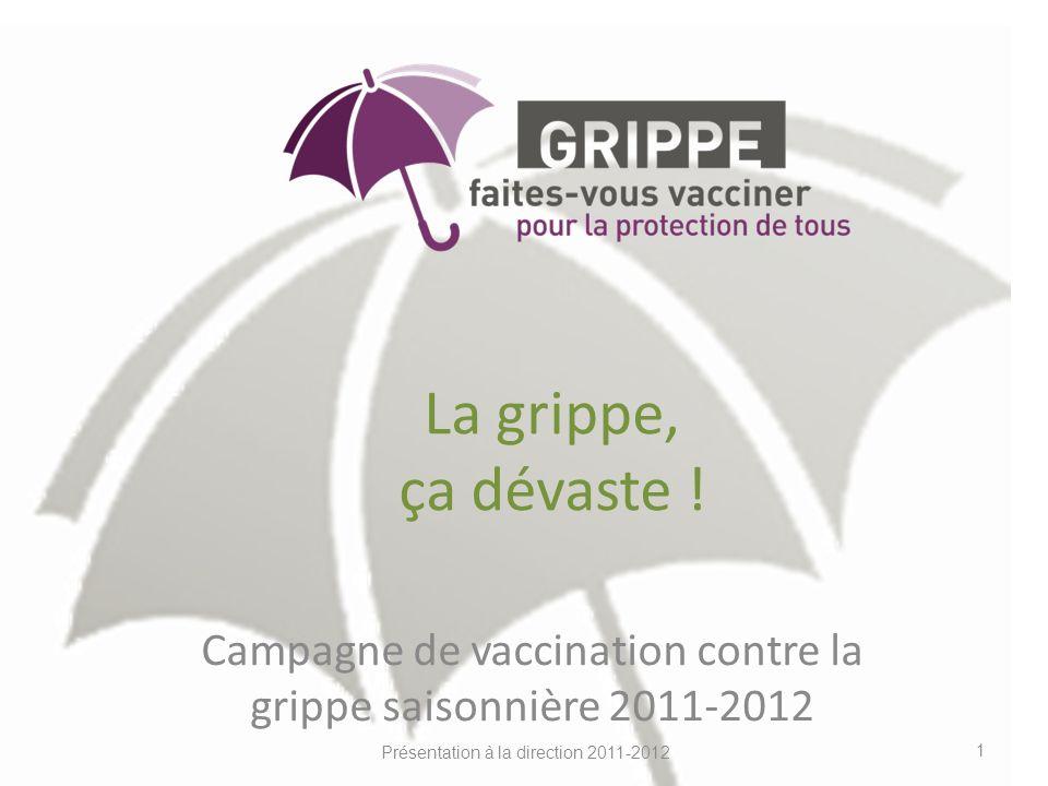 Campagne de vaccination contre la grippe saisonnière 2011-2012