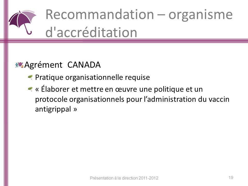 Recommandation – organisme d accréditation