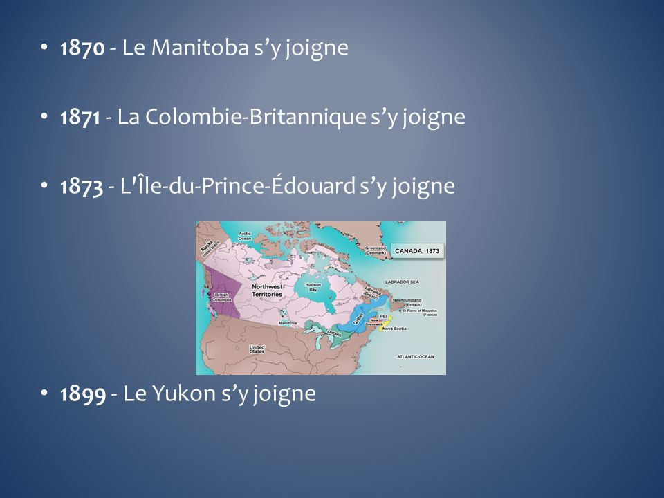1870 - Le Manitoba s'y joigne