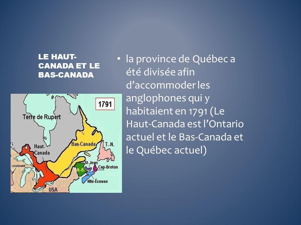 Le Haut-Canada et le Bas-Canada
