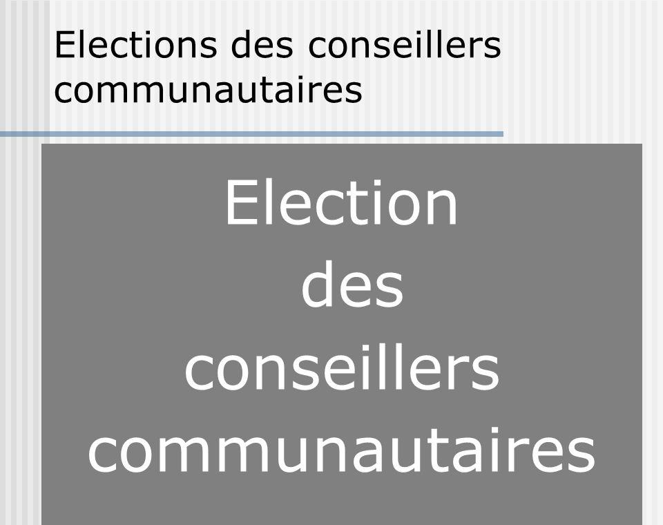 Election des conseillers communautaires