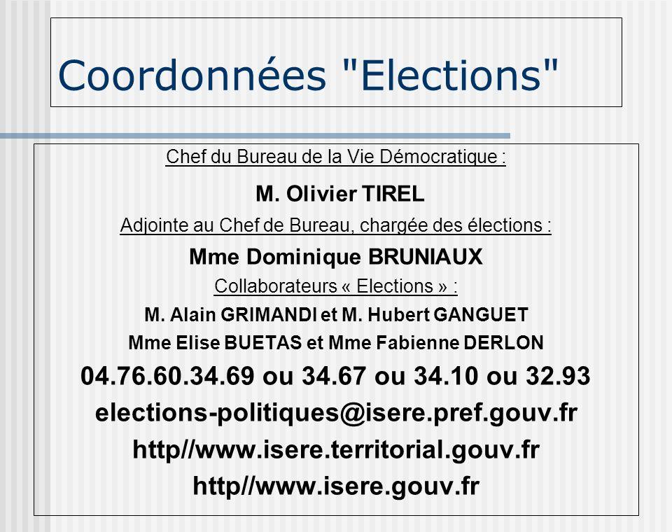 Coordonnées Elections