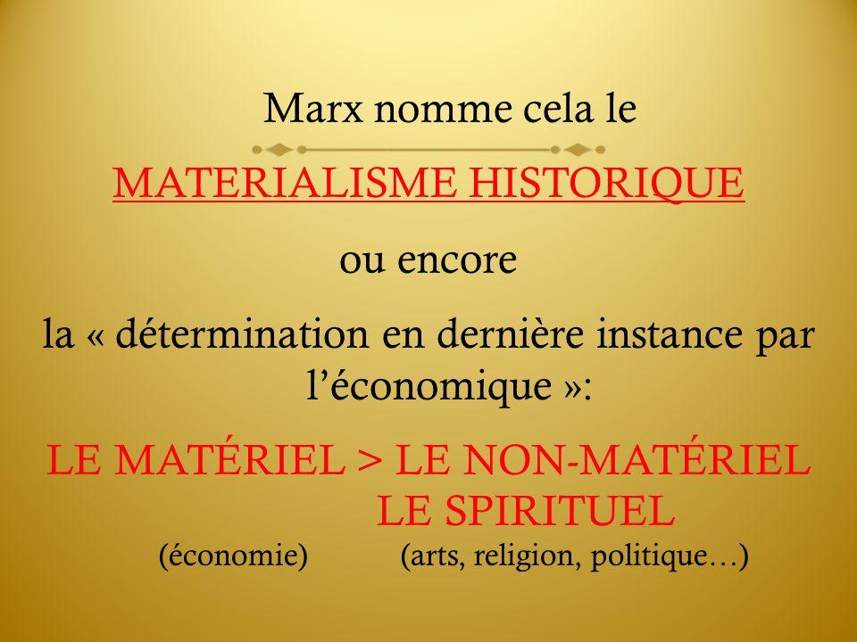 MATERIALISME HISTORIQUE ou encore