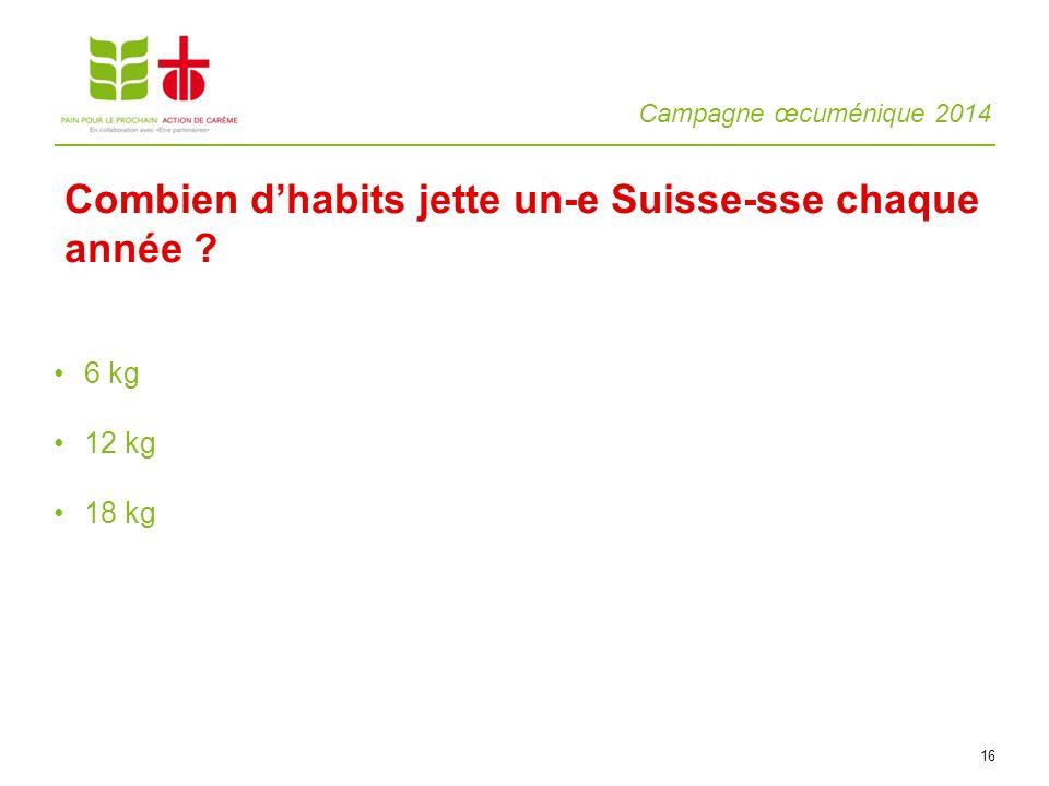 Combien d'habits jette un-e Suisse-sse chaque année