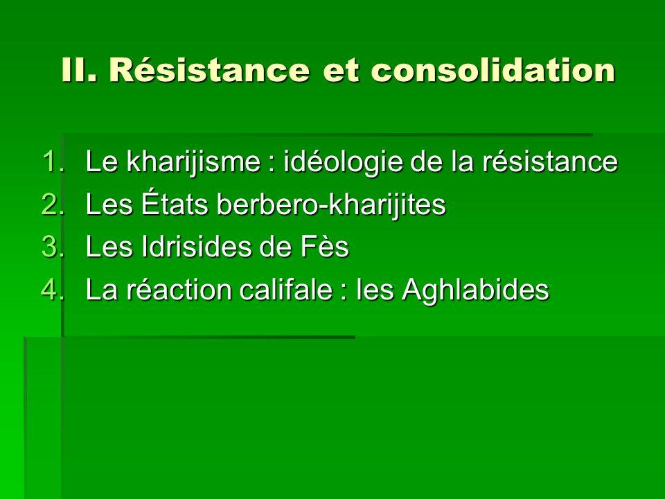 II. Résistance et consolidation