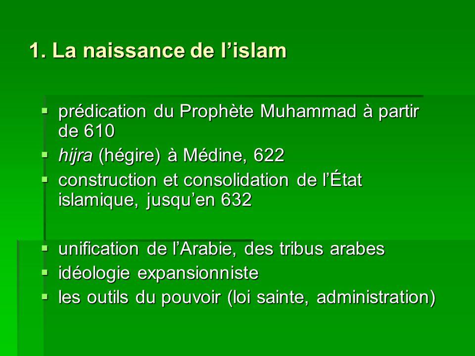 1. La naissance de l'islam