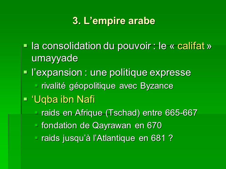 la consolidation du pouvoir : le « califat » umayyade