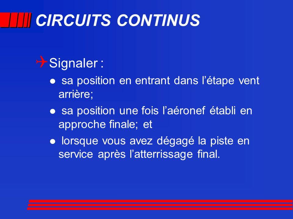 CIRCUITS CONTINUS Signaler :