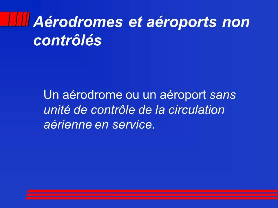 Aérodromes et aéroports non contrôlés