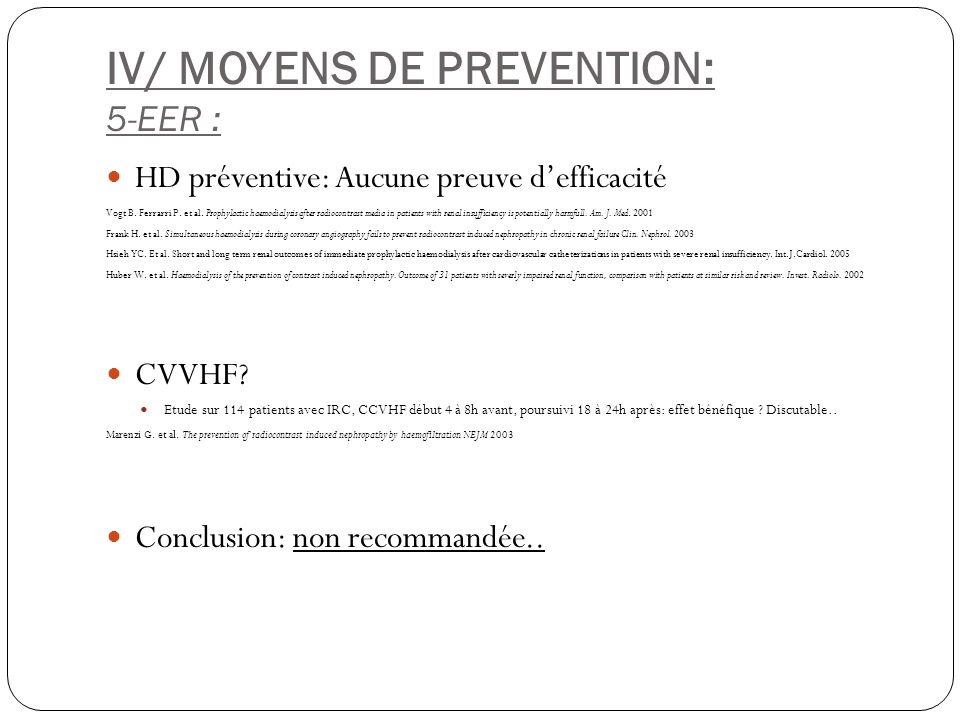 IV/ MOYENS DE PREVENTION: 5-EER :