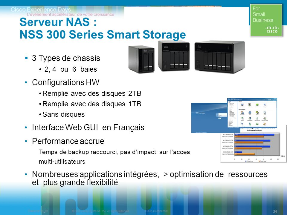 Serveur NAS : NSS 300 Series Smart Storage