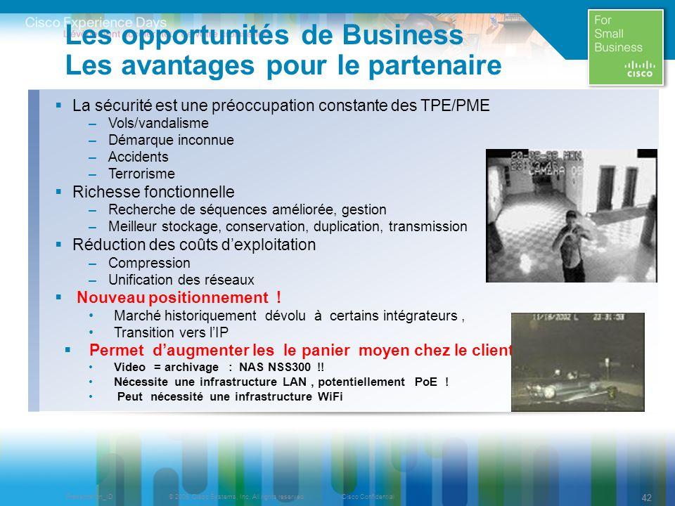 Les opportunités de Business Les avantages pour le partenaire