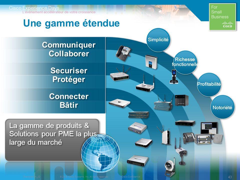 Une gamme étendue Communiquer Collaborer Securiser Protéger Connecter
