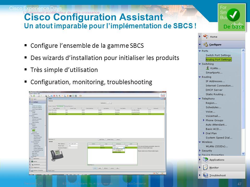 Cisco Configuration Assistant Un atout imparable pour l'implémentation de SBCS !