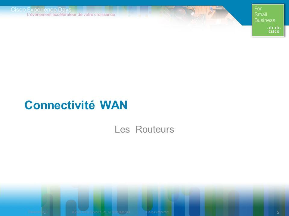 Connectivité WAN Les Routeurs