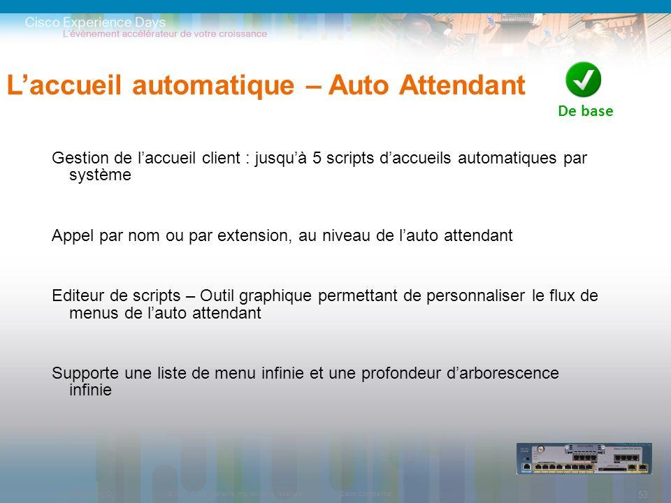 L'accueil automatique – Auto Attendant