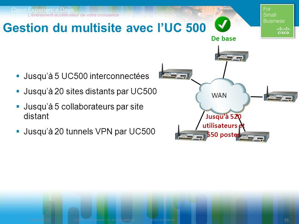 Gestion du multisite avec l'UC 500
