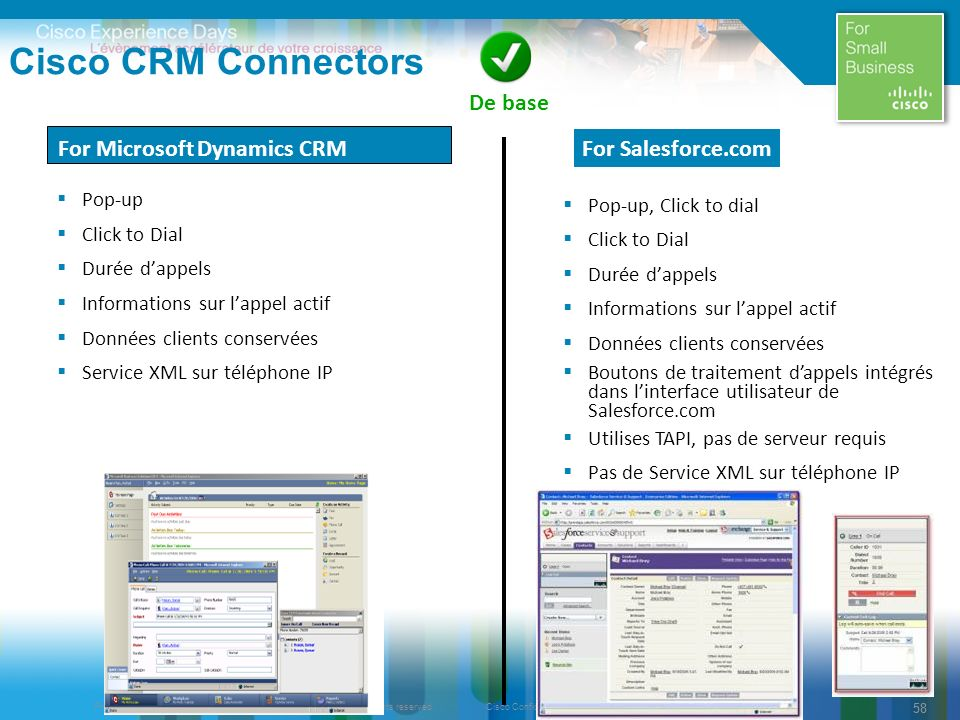 Cisco CRM Connectors De base For Microsoft Dynamics CRM