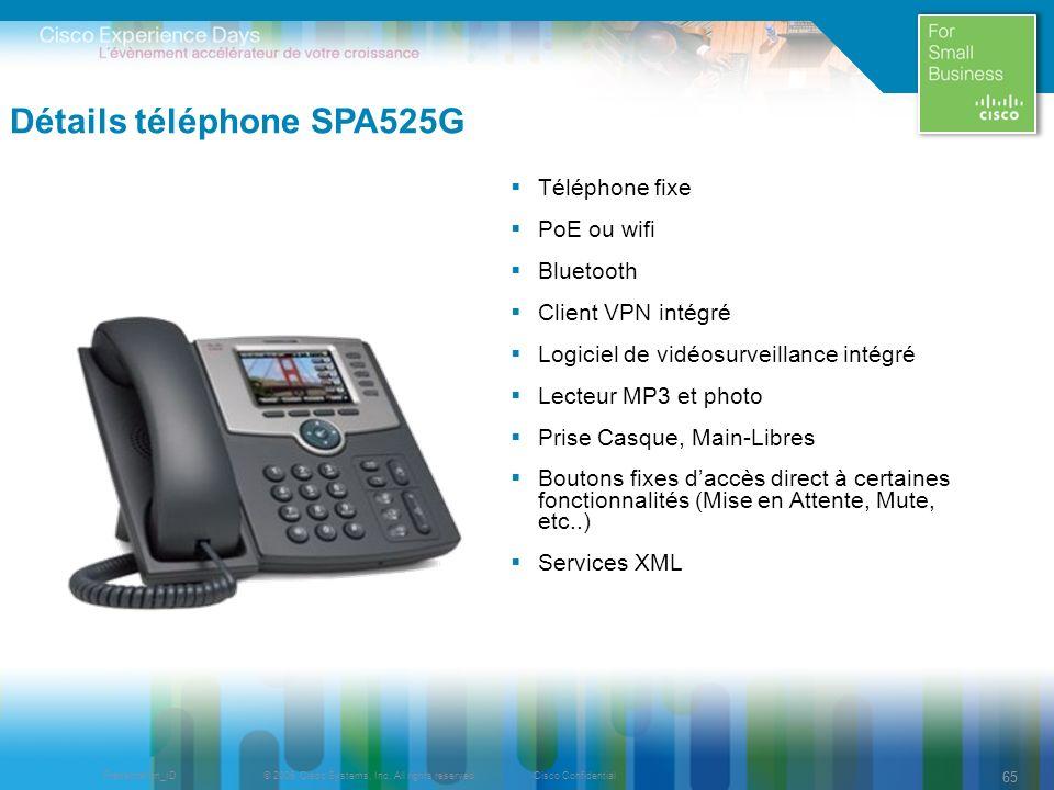 Détails téléphone SPA525G