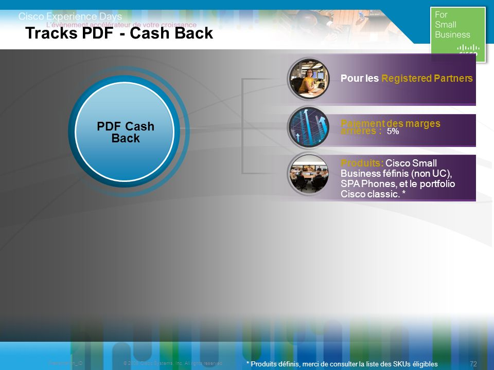Tracks PDF - Cash Back PDF Cash Back Pour les Registered Partners