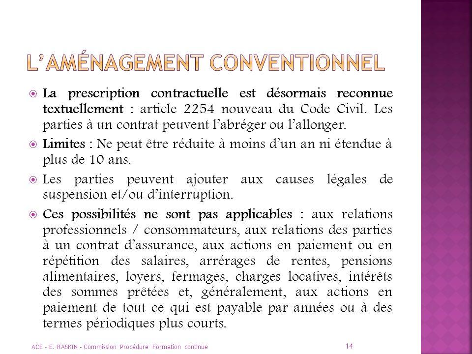 L'aménagement conventionnel