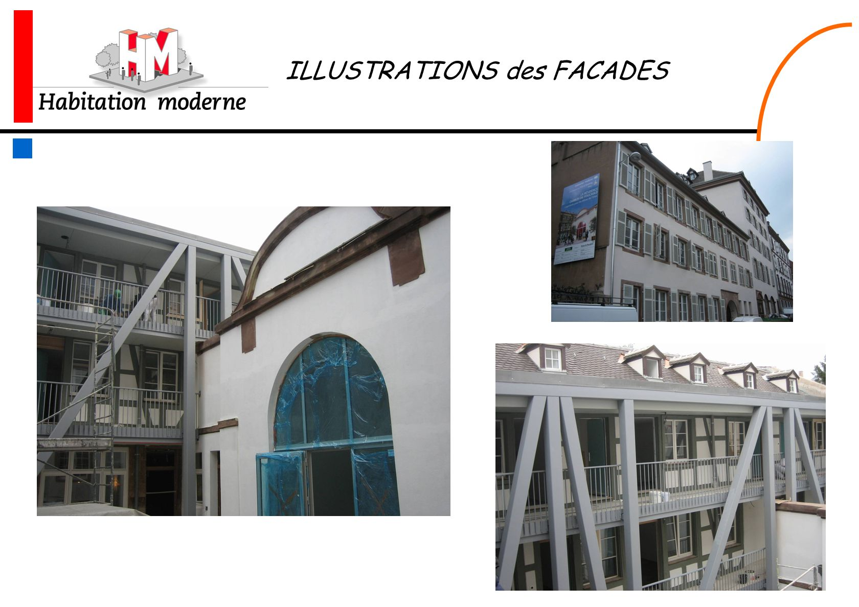 ILLUSTRATIONS des FACADES