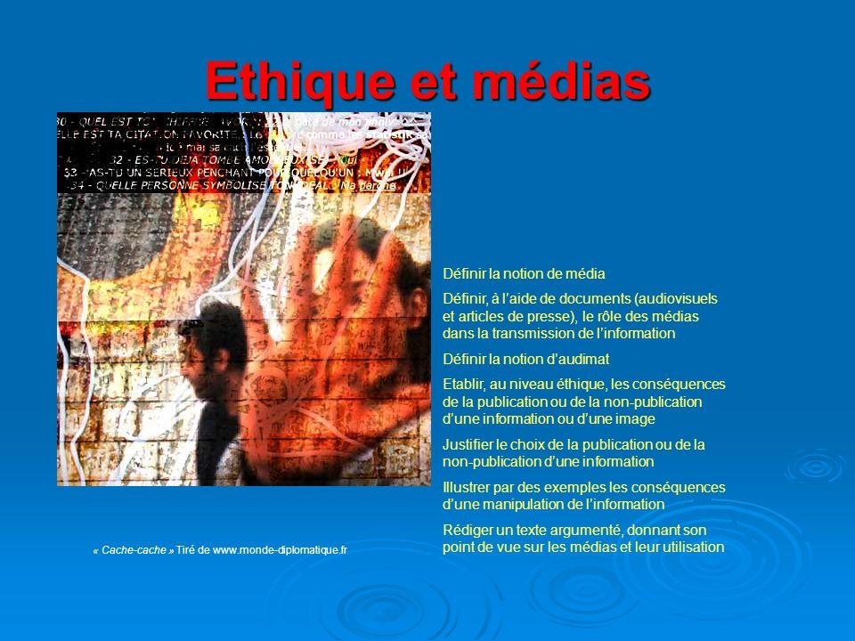 Ethique et médias Définir la notion de média