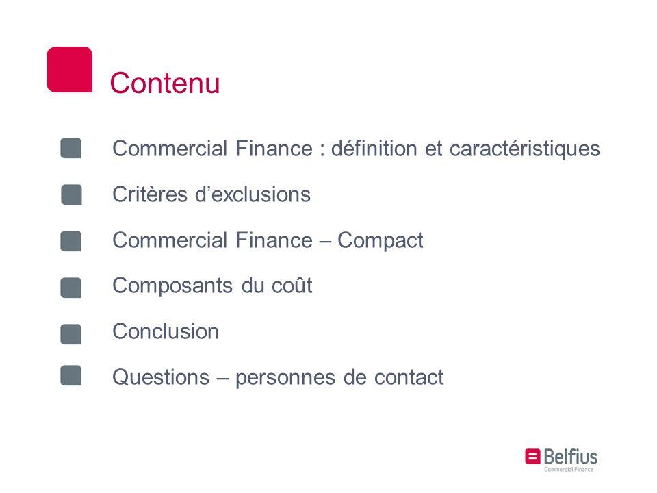 Contenu Commercial Finance : définition et caractéristiques