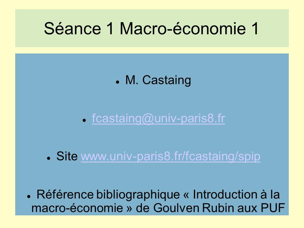 Séance 1 Macro-économie 1