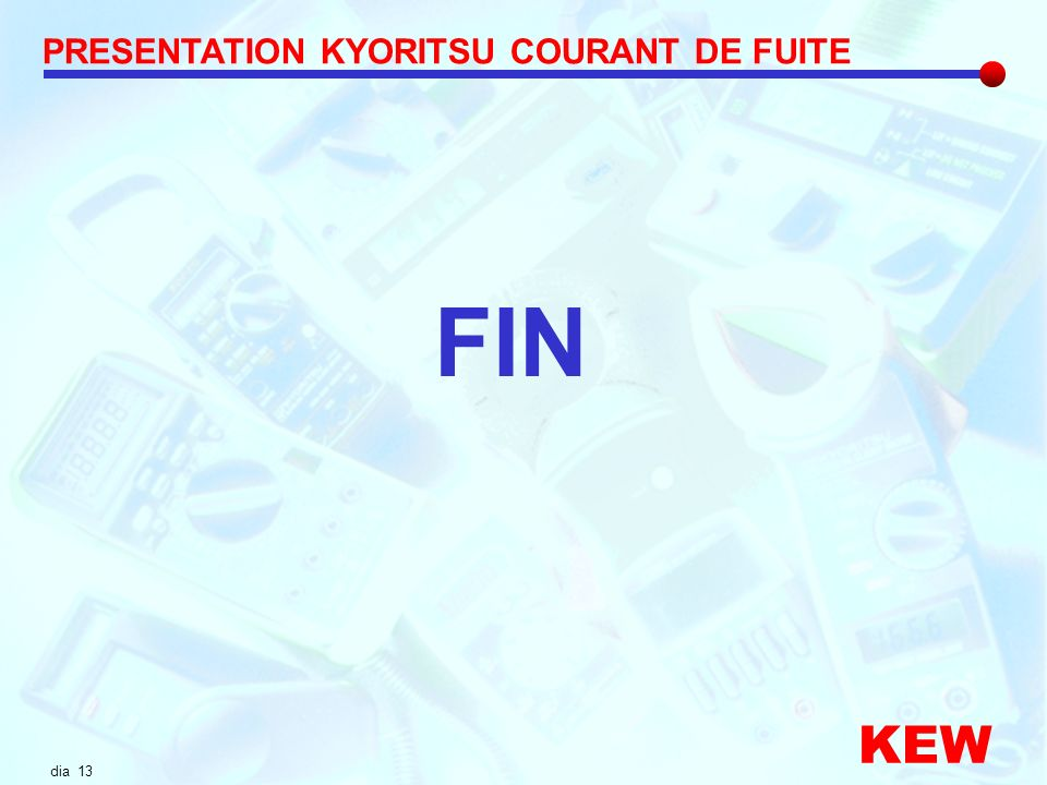 PRESENTATION KYORITSU COURANT DE FUITE