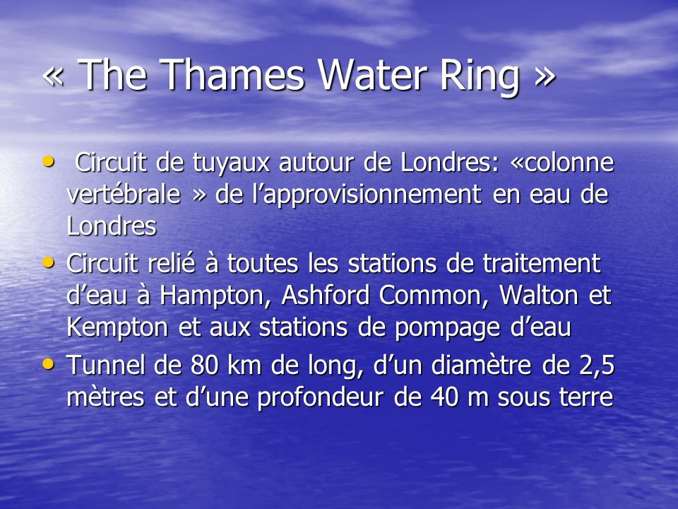 « The Thames Water Ring »