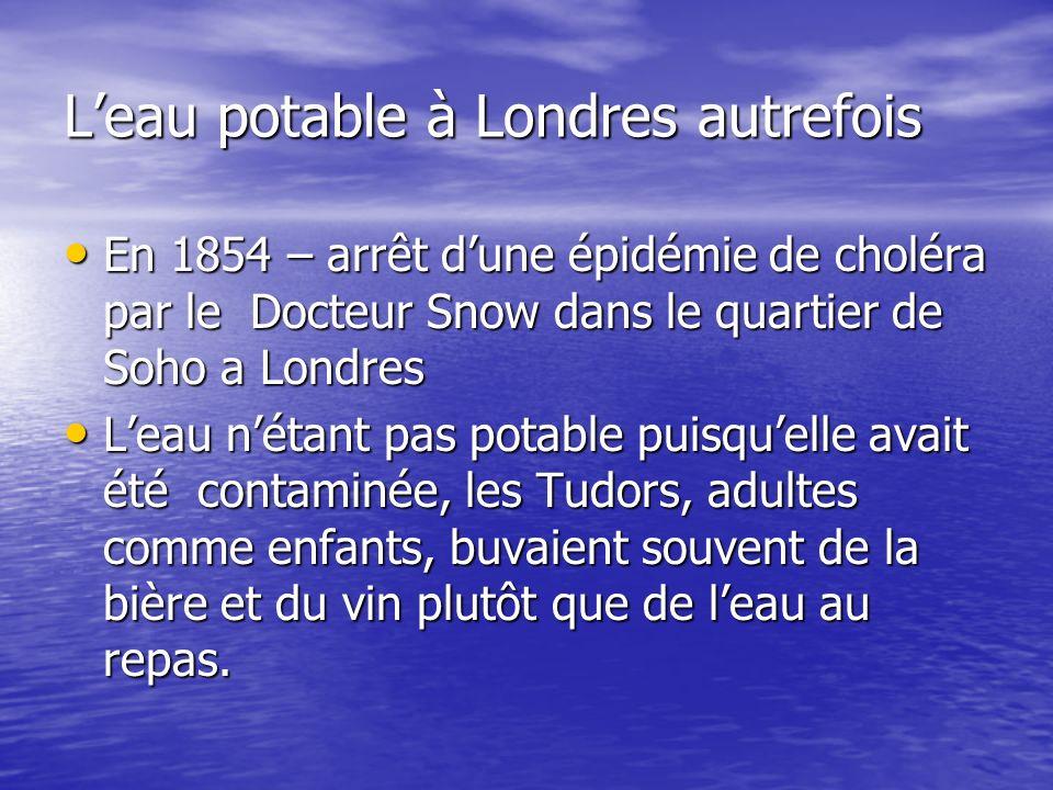 L'eau potable à Londres autrefois