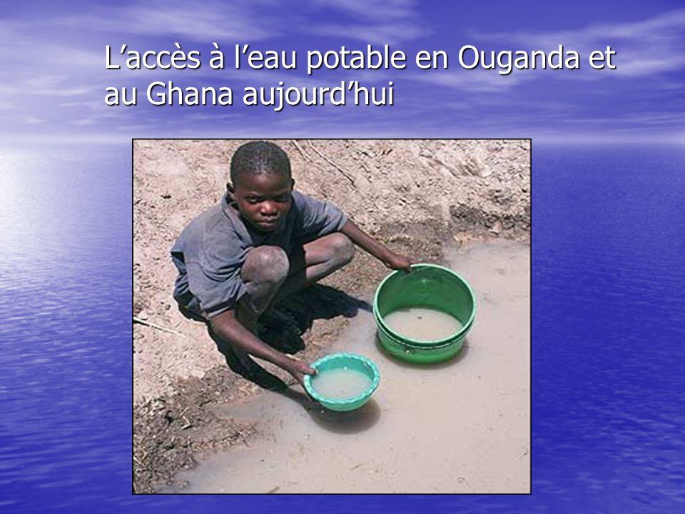 L'accès à l'eau potable en Ouganda et au Ghana aujourd'hui