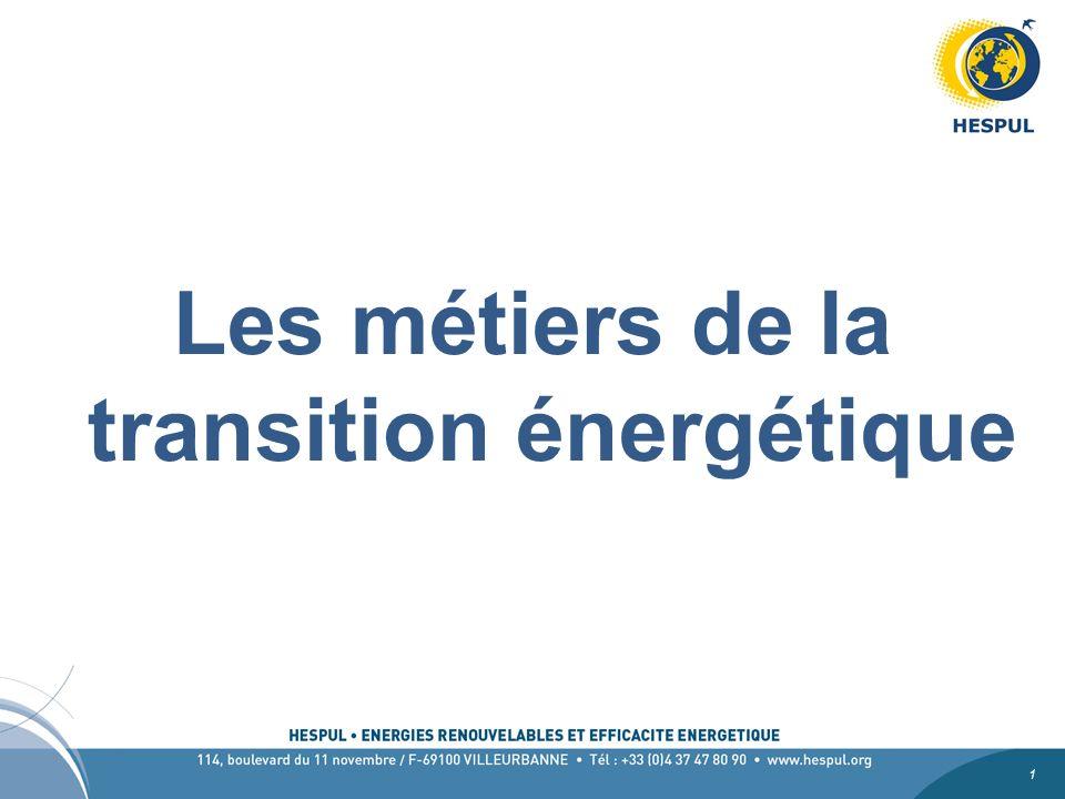 Les métiers de la transition énergétique
