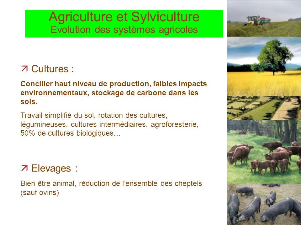 Agriculture et Sylviculture Evolution des systèmes agricoles