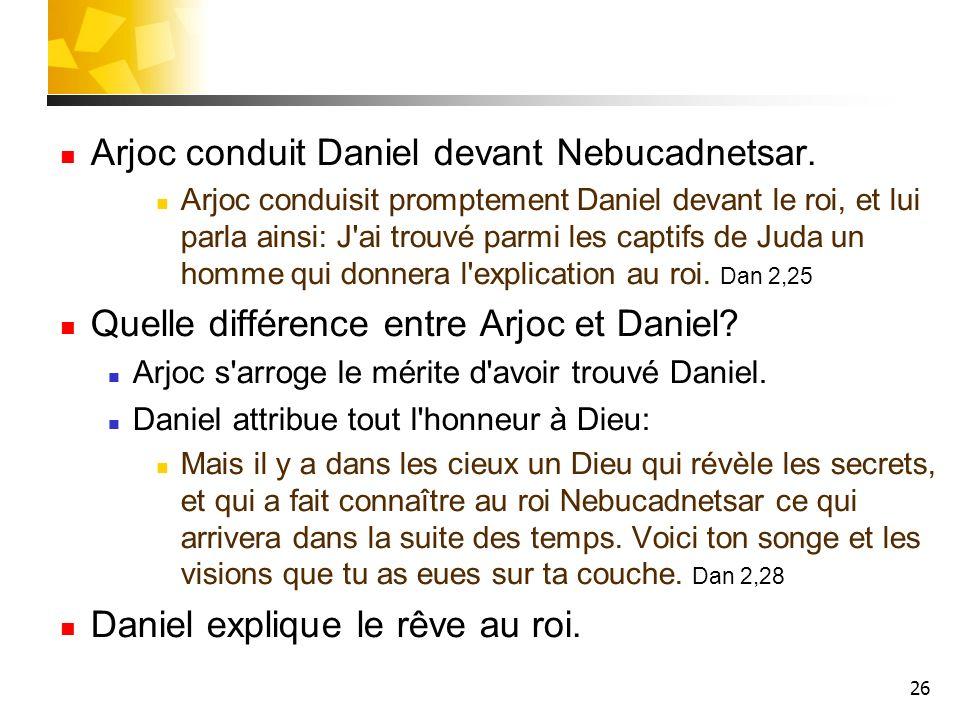 Arjoc conduit Daniel devant Nebucadnetsar.