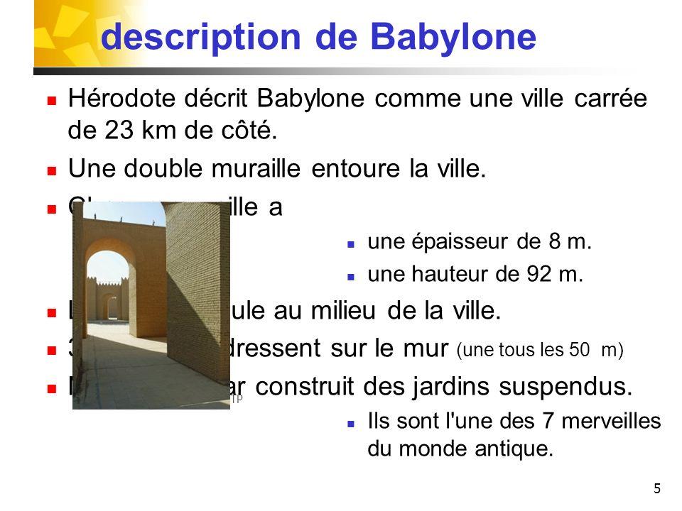 description de Babylone