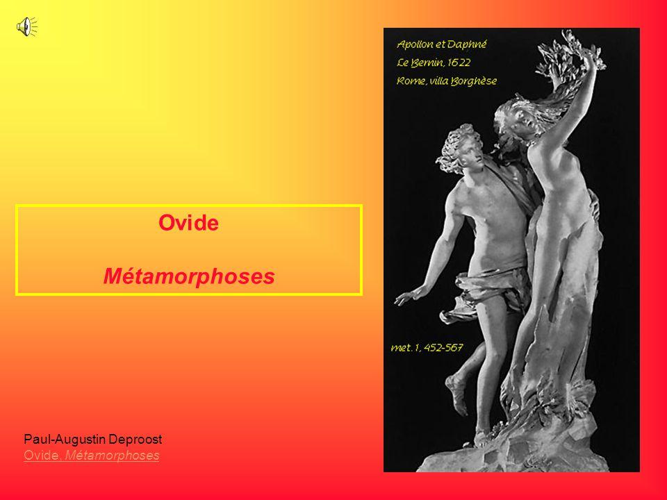 Ovide Métamorphoses Paul-Augustin Deproost Ovide, Métamorphoses