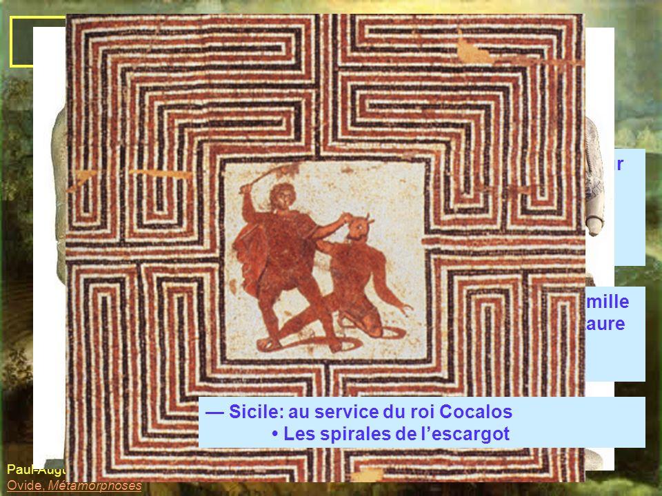 Dédale et Icare A. Dédale, l'artiste-artisan