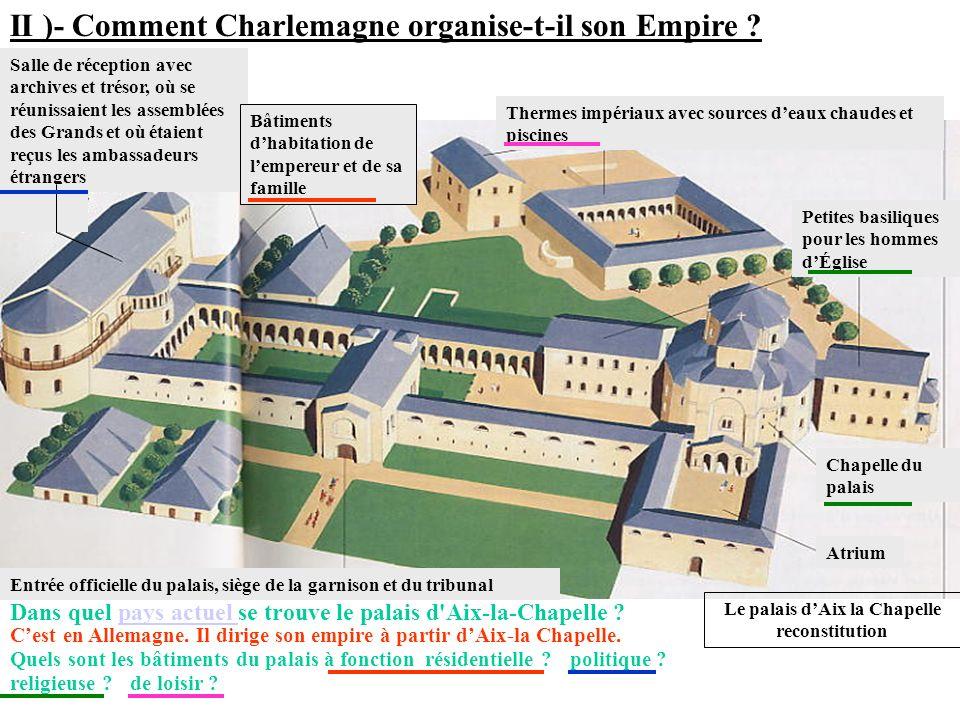Le palais d'Aix la Chapelle reconstitution