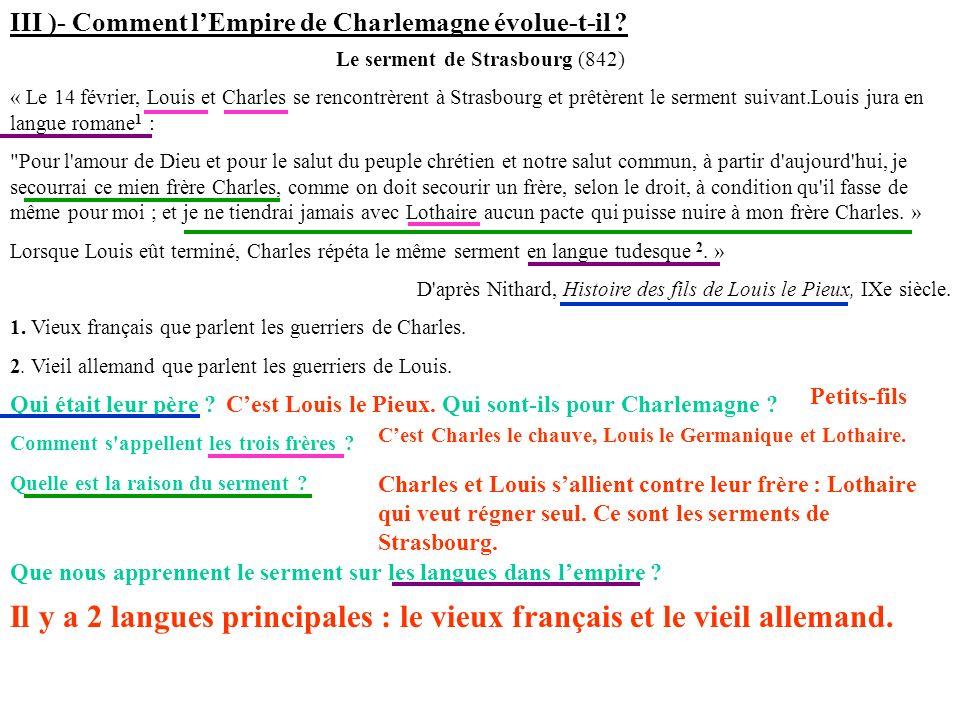 Le serment de Strasbourg (842)