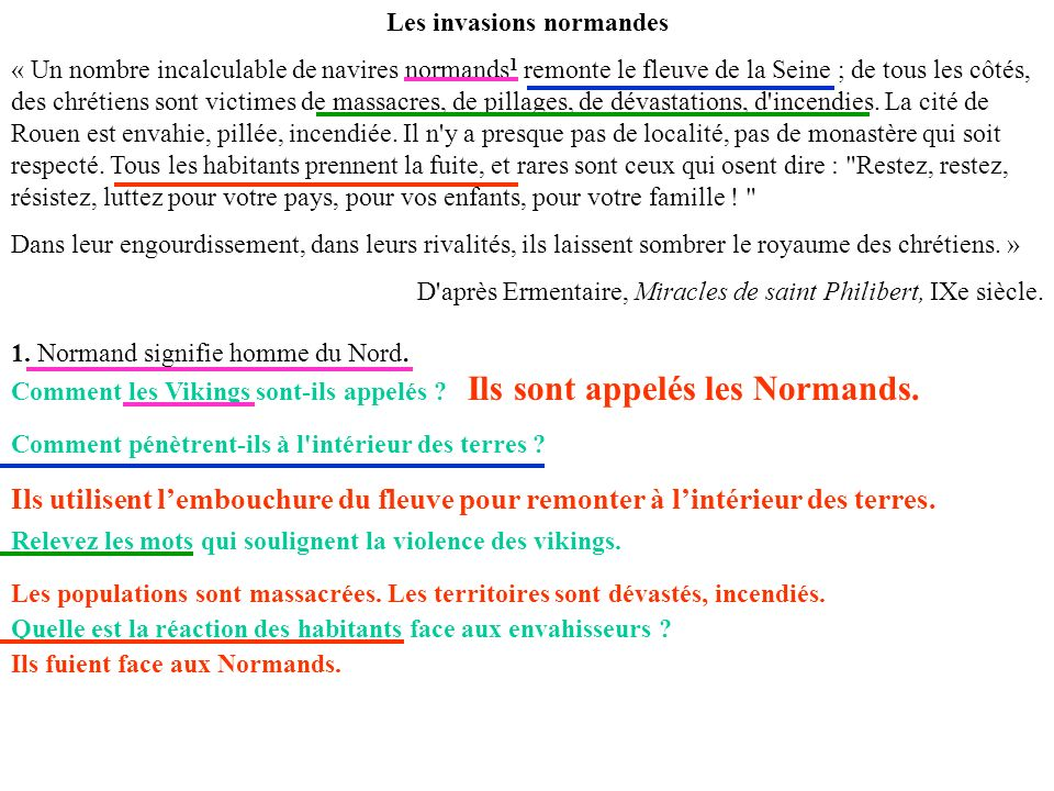 Les invasions normandes