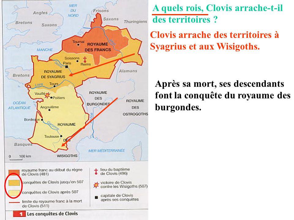 A quels rois, Clovis arrache-t-il des territoires