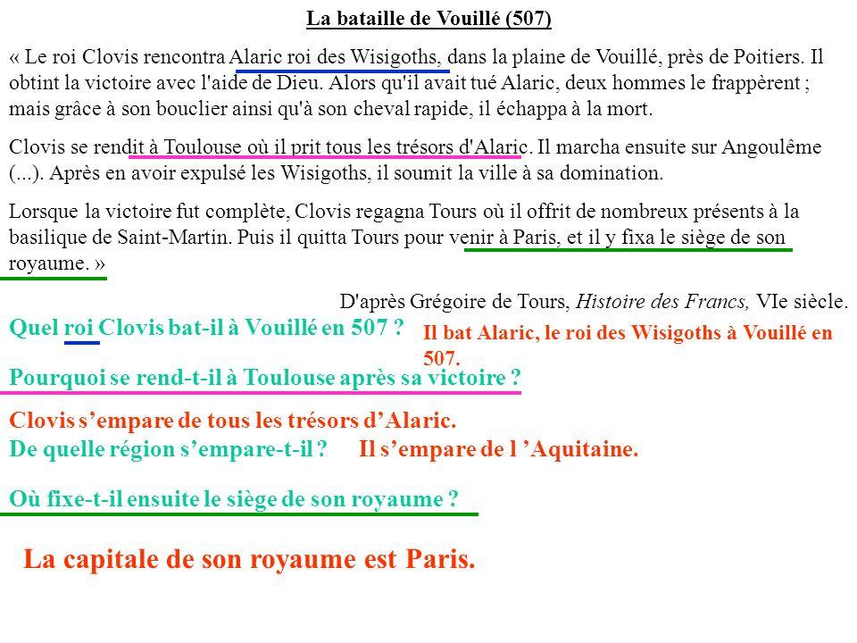 La bataille de Vouillé (507)